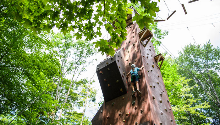 Rock Climbing at Camp Lohikan