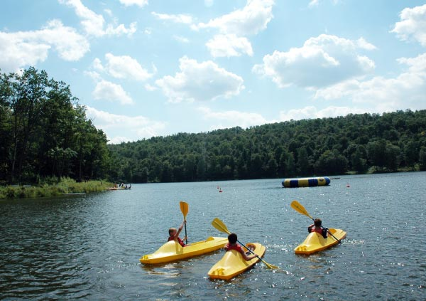Canoeing at Camp Lohikan
