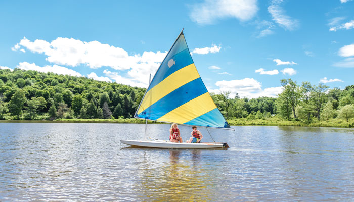 Sailing at Camp Lohikan