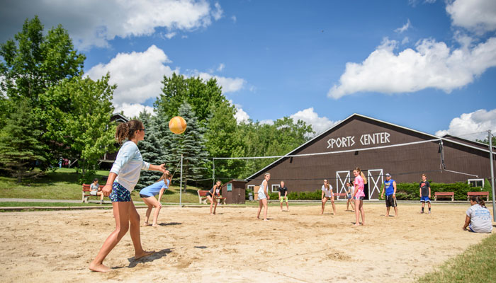 Volleyball at Camp Lohikan